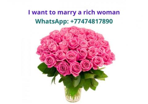 I am looking for a materially rich, kind woman to marry